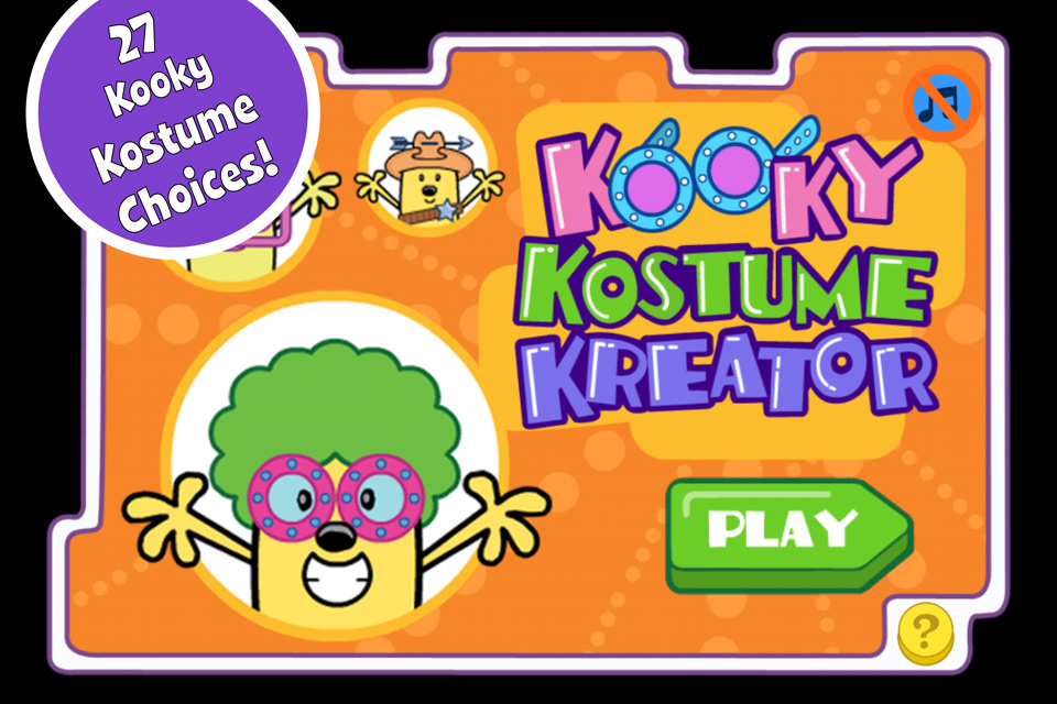 Screenshot Wubbzy's Kooky Kostume Kreator